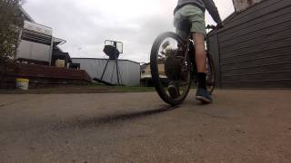 Motorized Bike Tire Popping Burnout | GoPro Hero 3