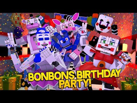 Minecraft Fnaf: Sister Location - Bonbons Surprise Birthday Party (Minecraft Roleplay)