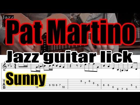 Pat Martino jazz guitar lick - Sunny solo transcription (4 bars) - Part 1 of 2