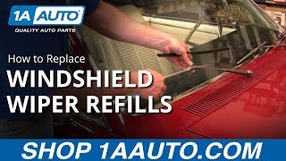 How To Replace Install Change Windshield Wiper Blades Refills. BUY QUALITY AUTO PARTS AT 1AAUTO.COM
