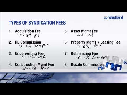 Syndication Basics Training Part 2 How to Make Fees and Backend Profits with Syndications