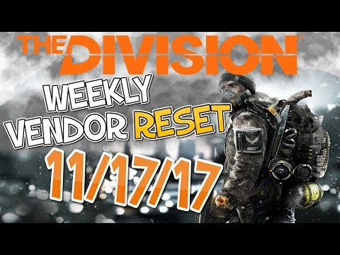The Division 11/17/17 Vendor Restock (with time stamps) - MODS & SPECIALIZED BACKPACK!