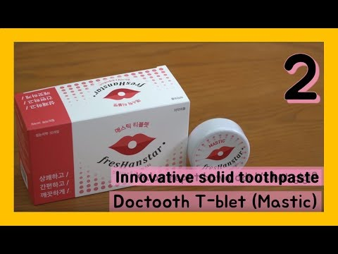 MASTIC : Innovative solid toothpaste tabs