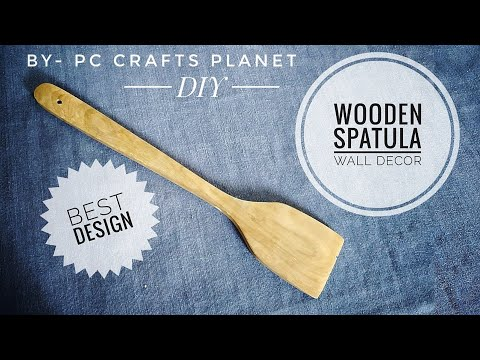 wooden spatula wall decor DIY| craft ideas| wall decoration ideas| wall hanging craft ideas