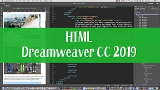 Ski web project 03 - HTML and CSS tutorial with Dreamweaver CC 2019