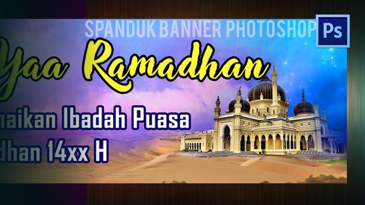 Tutorial Cara Membuat Desain Banner Ramadhan Photoshop Design Banner