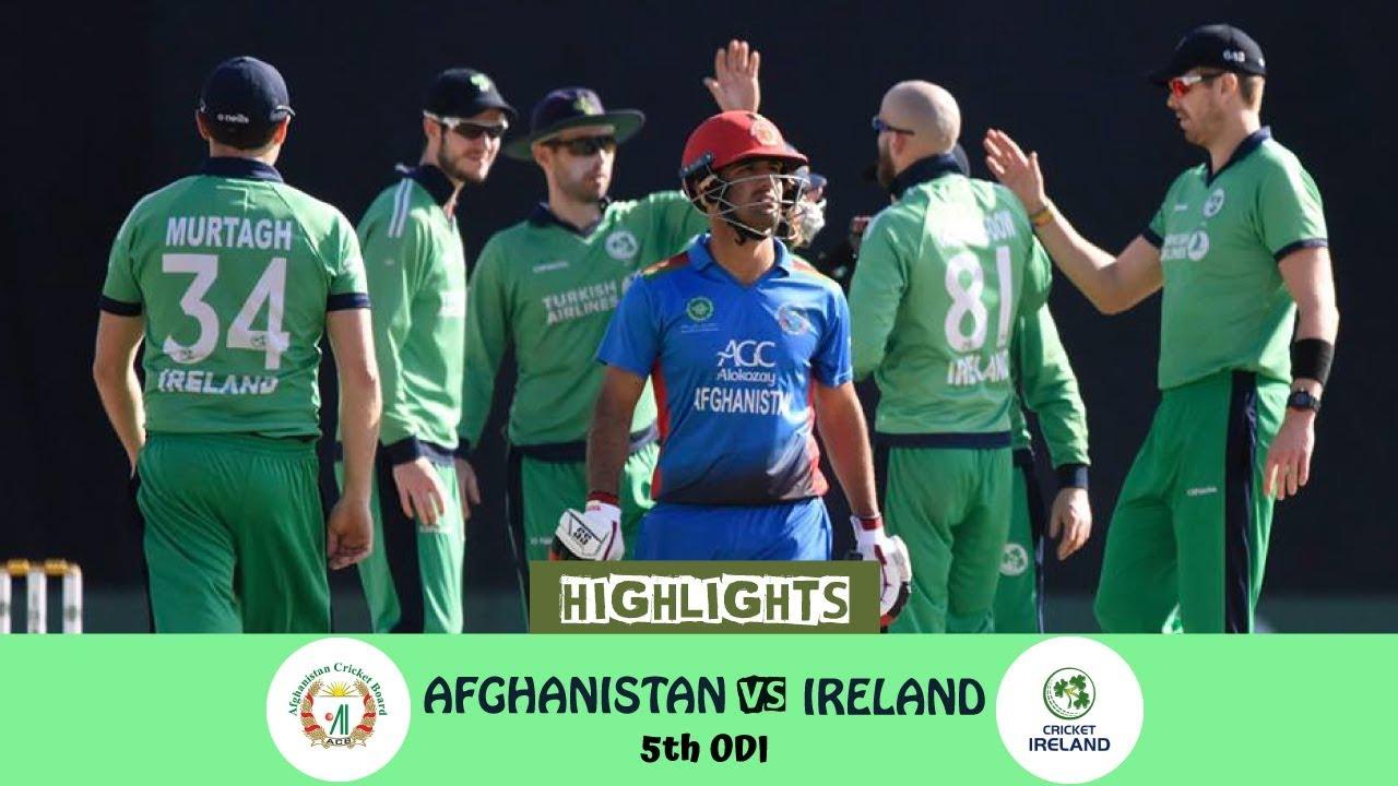 Highlights Afghanistan Vs Ireland