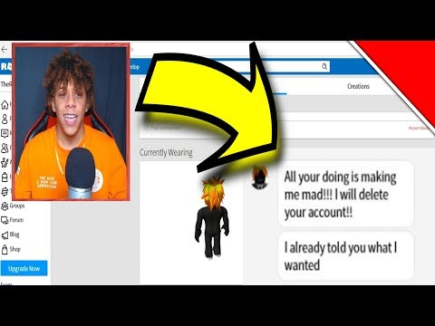 CONFRONTING THE GUY WHO HACKED MY ROBLOX ACCOUNT! *HE WANTS 5,000 ROBUX FOR MY ACCOUNT BACK!*
