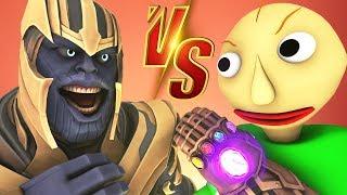 Балди vs Танос - Фильм Анимация (Все Серии Перчатка Бесконечности | Baldi's Basics Пранк Челлендж)