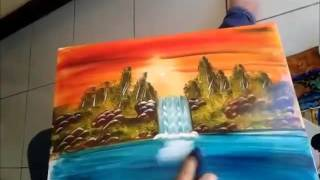 Vẽ tranh màu nước bằng tay cực đẹp !!