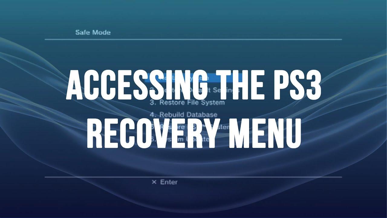 ps3 access safe mode recovery menu youtube rh youtube com PSN Menu PSN Menu