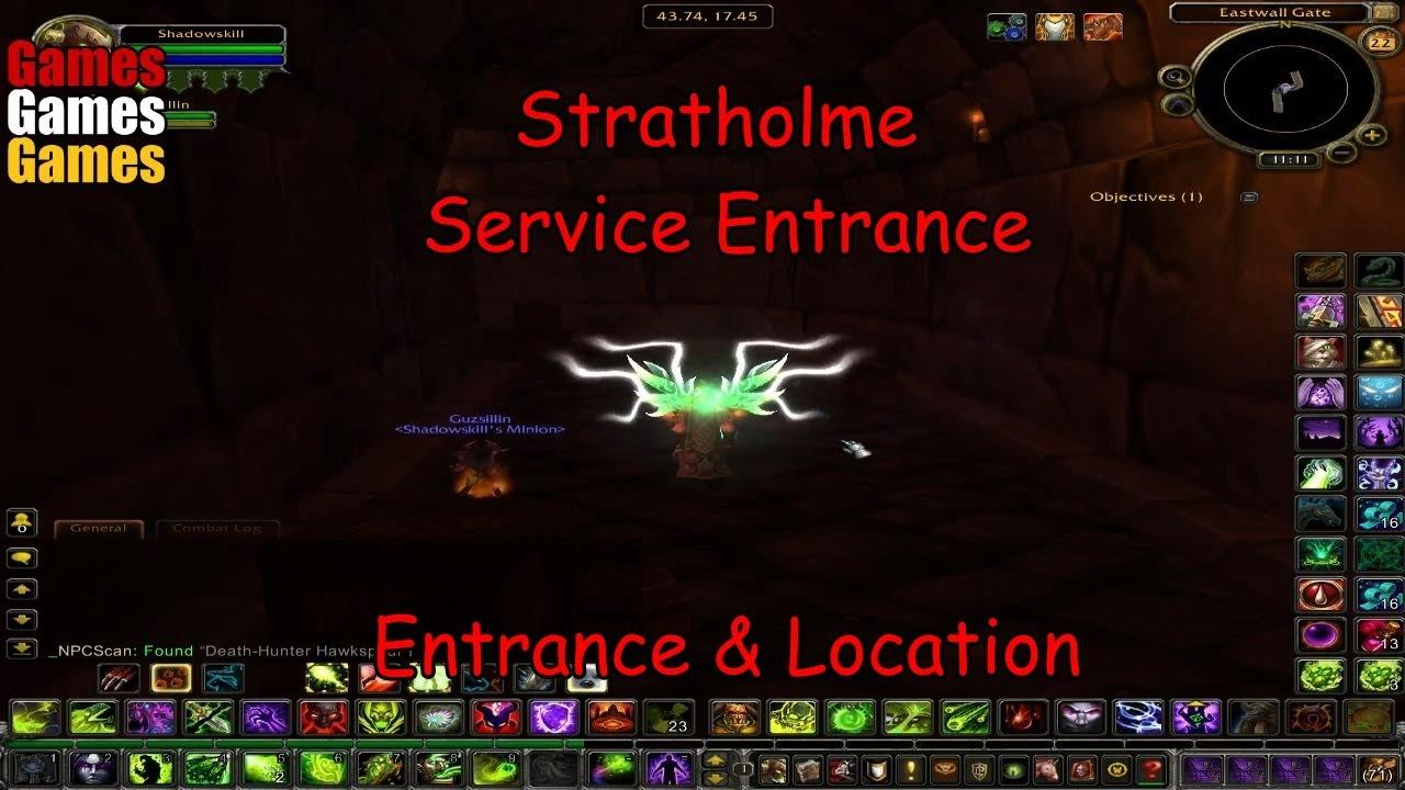 stratholme service entrance entrance location world of warcraft original dungeons youtube. Black Bedroom Furniture Sets. Home Design Ideas
