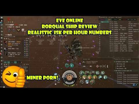 Eve Online Rorqual Ship Review And Realistic Isk Per Hour Numbers