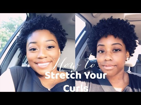 HOW TO STRETCH NATURAL CURLS !!!💜