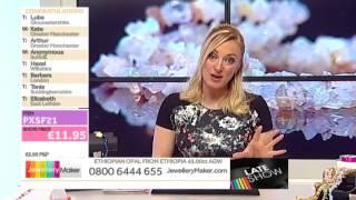 Sunstone and Neon Apatite for jewellery making: JewelleryMaker late show LIVE 11/04/2014