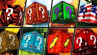 Minecraft 1V1V1V1 SUPERHERO LUCKY BLOCK RACE!   (Minecraft Modded Minigame)