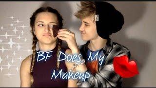 Boyfriend Does My Makeup (ft.  Gabriel.Laceup)  | Kayce Brewer