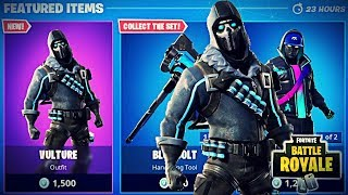 NEW VULTURE SKIN + BLUE BOLT PICKAXE + DUAL DEFIANT GLIDER NEW FORTNITE ITEM SHOP UPDATE