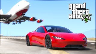 DRIVING THE 2020 TESLA ROADSTER - FASTEST CAR IN THE WORLD!!!! (GTA V REAL Life Car Mods)