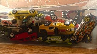 Toy Cars Slide Play into Water Video for Kids (lots of cars)