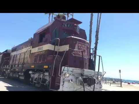 Beach Train Departs From The Santa Cruz Boardwalk