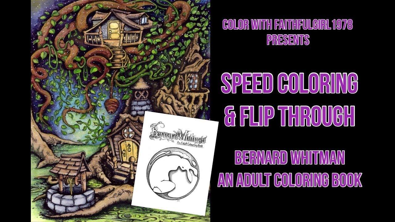Speed Coloring & Flip Through | Bernard Whitman Coloring Book - YouTube