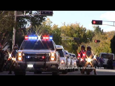 Albuquerque Police Officer Daniel Webster The Final Dispatch Police Procession Lights Sirens