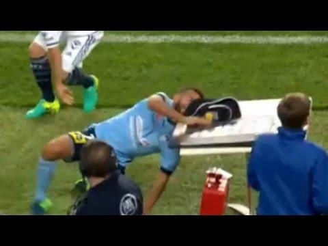 OUCH! Sydney FC's Michael Zullo Accidentally Headbutts a Table