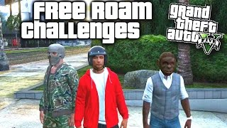 GTA 5 Funny Moments #155 'FREE ROAM CHALLENGES' With The Sidemen (GTA 5 Online Funny Moments)