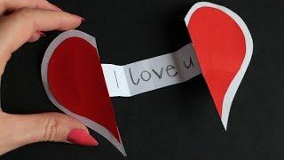 Basteln mit Papier: 'Pop Up Herz' für Valentinstag, Hochzeit, Muttertag & Geburtstag [W+]