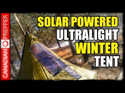 Solar Powered 4 Season Tent: Powerfilm Panel & Tipi Tent