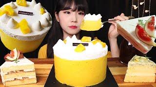 고구마밀크생크림케이크 투썸 케이크 먹방 (f,얼그레이무…