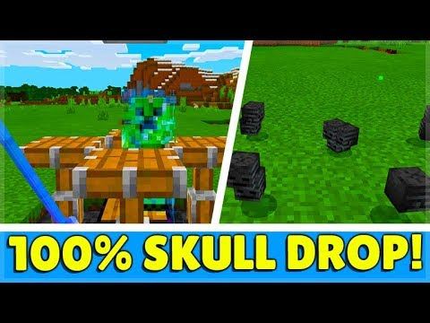 How To Get Wither Skeleton Skulls 100% Of The Time WITHOUT Entering The Nether In Minecraft