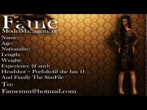 Fame Model Management (Sims 2 Agency) Introduction + Apply Now ! Wrong email in video check descript