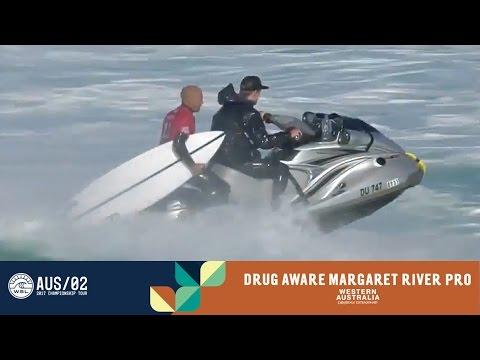 Kelly Slater Knocked Out of Event by Jack Freestone - Drug Aware Margaret River Pro 2017