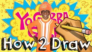 How To Draw DJ Lance From Yo Gabba Gabba | Drawing Coloring Learning | JUNIORS TOONS