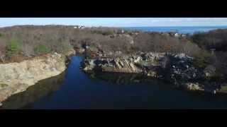 DJI Phantom 3 Pro over Gloucester Quary (Little Ghost by W.C. Lindsay)
