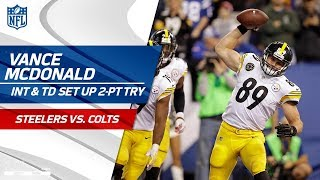 Ryan Shazier's RIDICULOUS Pick Sets Up Big Ben's TD & 2-Point Try! | Steelers vs. Colts | NFL Wk 10