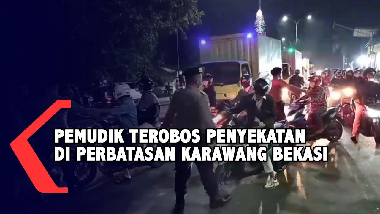 Download Viral!! Pemudik Nekat Terobos Penyekatan Oleh Kepolisian di Perbatasan Bekasi - Karawang
