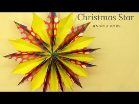 DIY Christmas Star   How to make Christmas star   Christmas Decoration ideas   Paper Bag Star  