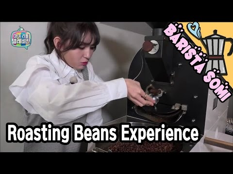 [SOMI Live] Somi's amazed to see the beans being roasted 20170311