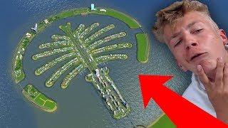 EXPERIMENT: het PALM EILAND UIT DUBAI NABOUWEN! (Cities Skylines)