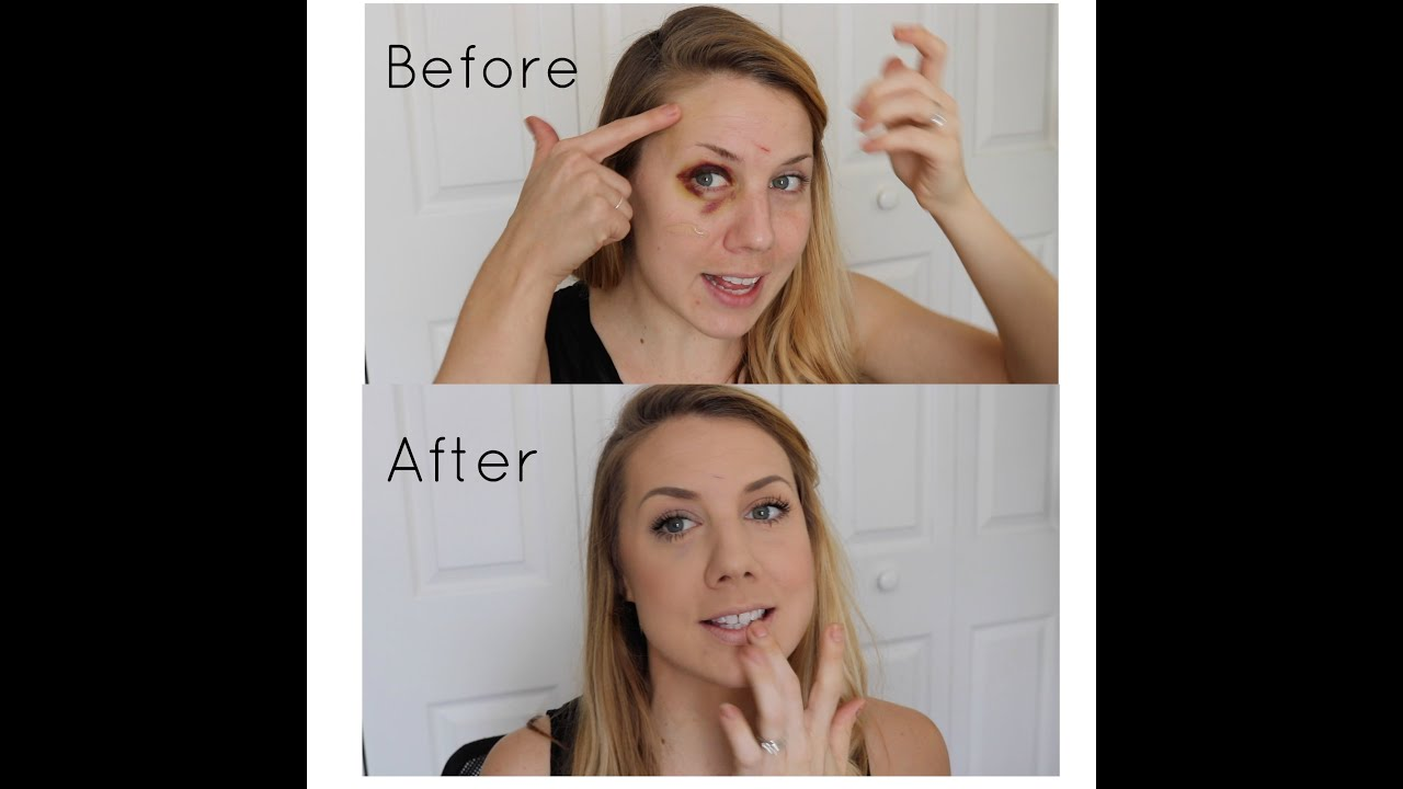 How To Cover A Black Eyeshiner Andrea Sawyer Youtube