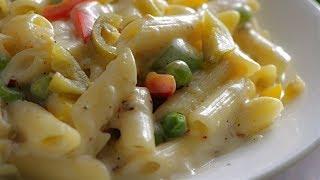 #WhiteSaucepasta| వైట్ సాస్ పాస్తా| Simple Easy White Sauce Pasta| How To Make Pasta In Telugu