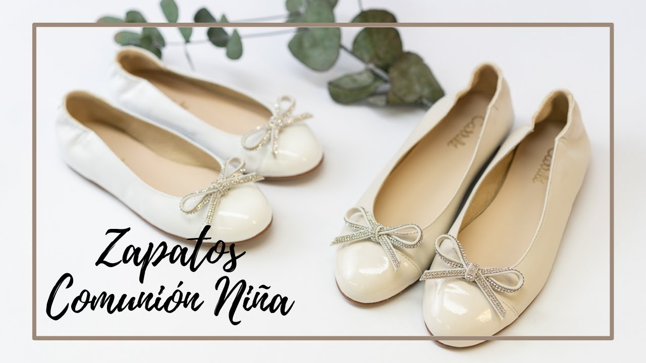 aa27140b8 Zapatos comunión y ceremonia niña 2019 - Calzados Carrilé - YouTube