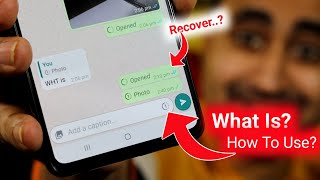 What Is View Once Feature On WhatsApp   Recover View Once Photo In WhatsApp..?  EFA