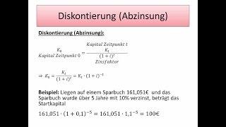 Investition und Finanzierung: Zins und Zinseszinsrechnung - FernUni Hagen