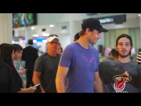 Rafael Nadal has arrived for the Brisbane International 2019