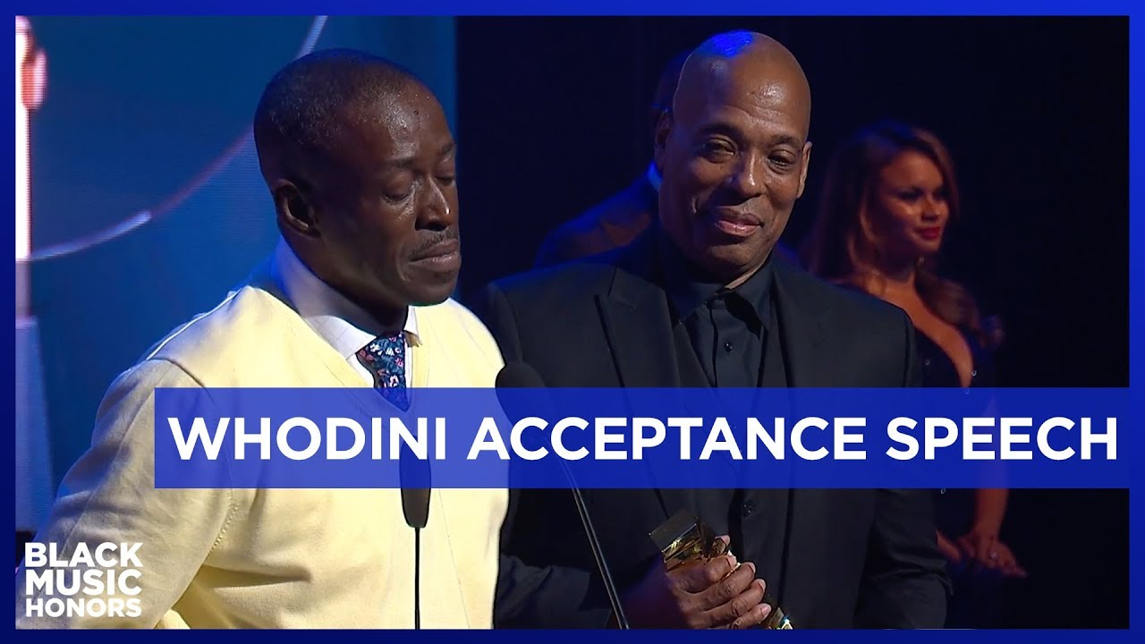 Hip Hop Royalty Whodini 's Emotional Acceptance Speech | Black Music Honors