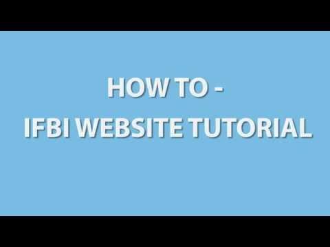 How to - IFBI Benutzerkonto Tutorial